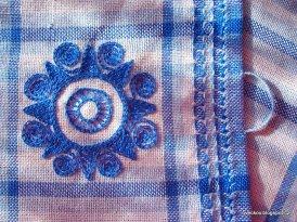 Utěrky - ručně tkané, ručně začištěné a vyšívané. Výšivka inspirována slovenskou lidovou výšivkou.