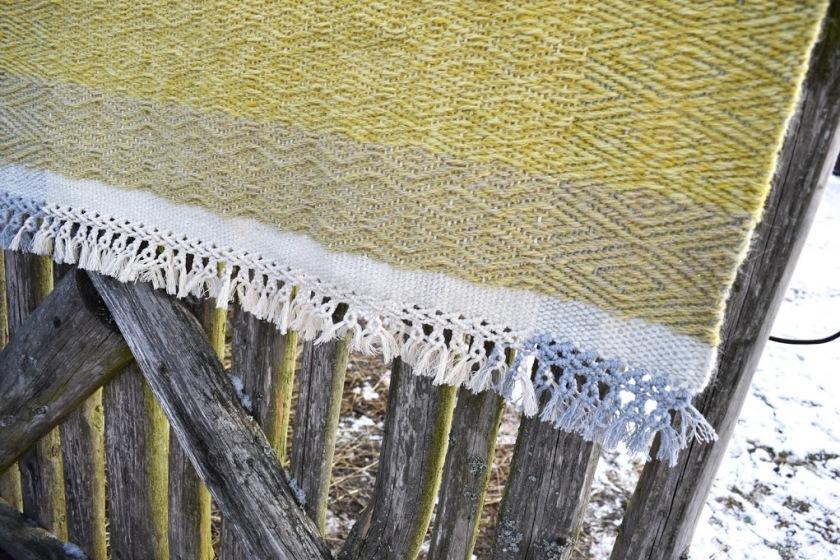 Ručně tkaný koberec - zelený